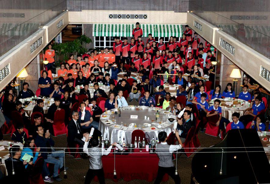 第三屆亞洲U19暨U16四人制合球錦標賽頒獎晚宴。林嘉欣/攝影。