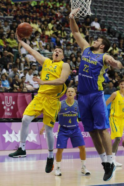 臺北世大運男籃賽,澳洲VASILJEVIC_Dejan收下全場最高的28分。圖/台北世大運執委會提供