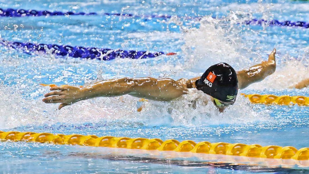 香港好手杜敬謙在臺北世大運游出好成績。圖/台北世大運執委會提供