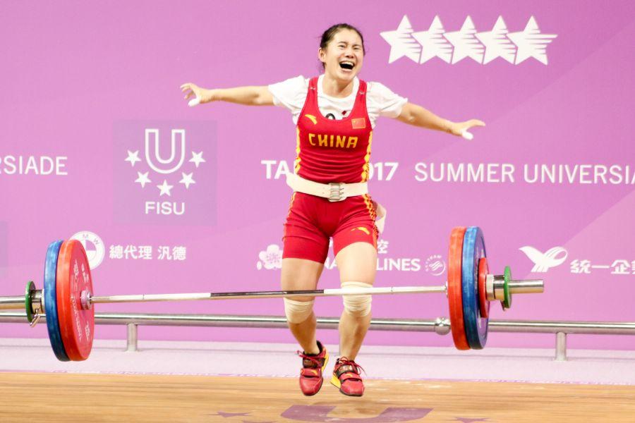 女子53公斤級中國選手劉鳳獲得銀牌。圖/台北世大運組委會提供