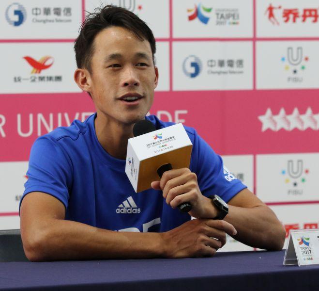 莊吉生也成功打進男單4強。台北世大運組委會提供