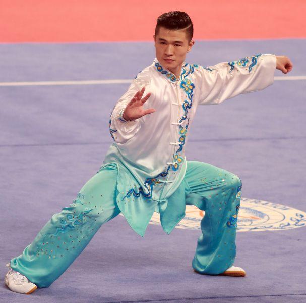 臺北世大運武術男子太極拳金牌得主,來自中國北京體育大學的孔繁輝。圖/2017世大運組委會提供