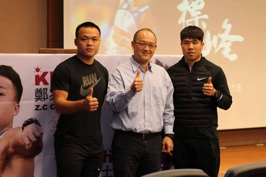 標槍雙雄黃士峰、鄭兆村分享運動員訓練的心路歷程。圖/高雄市體育處提供