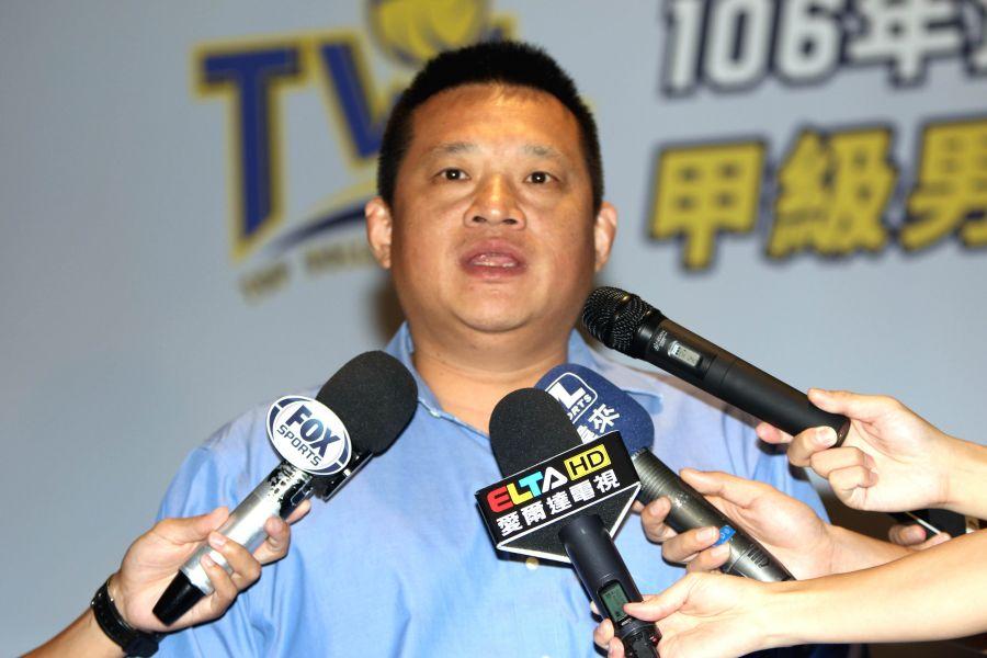 中華民國排球協會理事長王貴賢。林嘉欣/攝影。