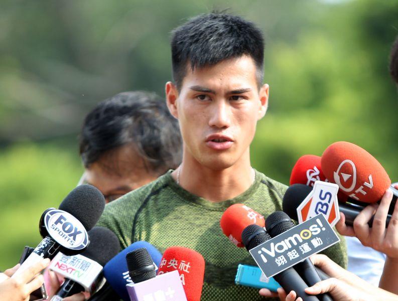 我國短跑男神楊俊瀚。林嘉欣/攝影。