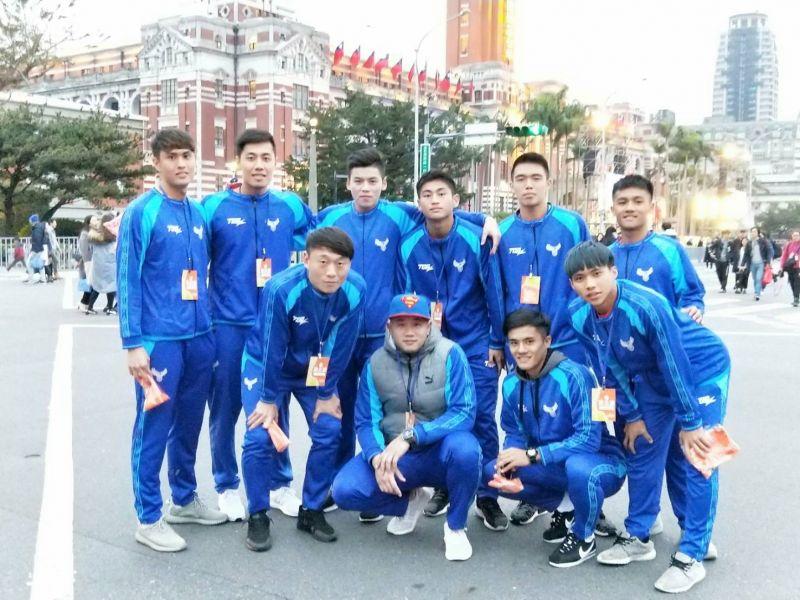 中華男足受邀上元旦升旗典禮。中華民國足球協會提供