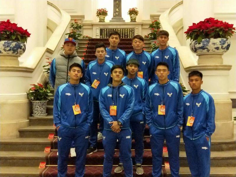 中華男足元旦初體驗。中華民國足球協會提供