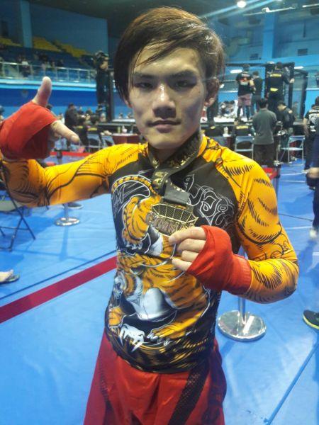 廖日宏只練習三個月就拿下冠軍。楊勝凱攝