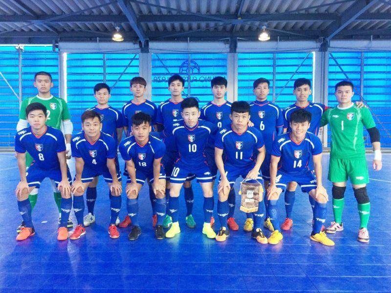 赴日集訓的中華5人制足球隊。中華民國足球協會提供