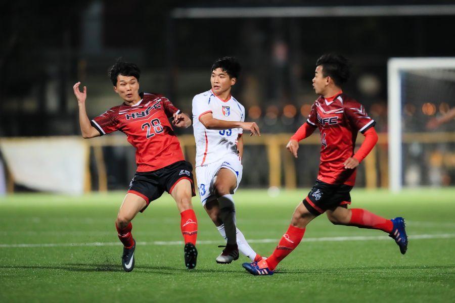 新人吳彥澍的表現獲得懷特的肯定。中華民國足球協會提供