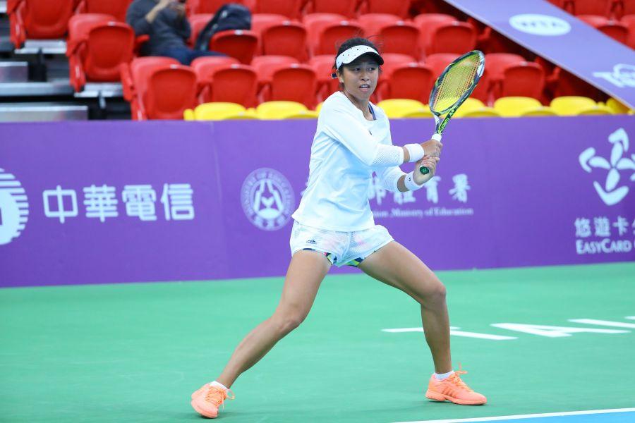 謝淑映剛跟姐姐謝淑薇返台。WTA臺灣公開賽大會提供