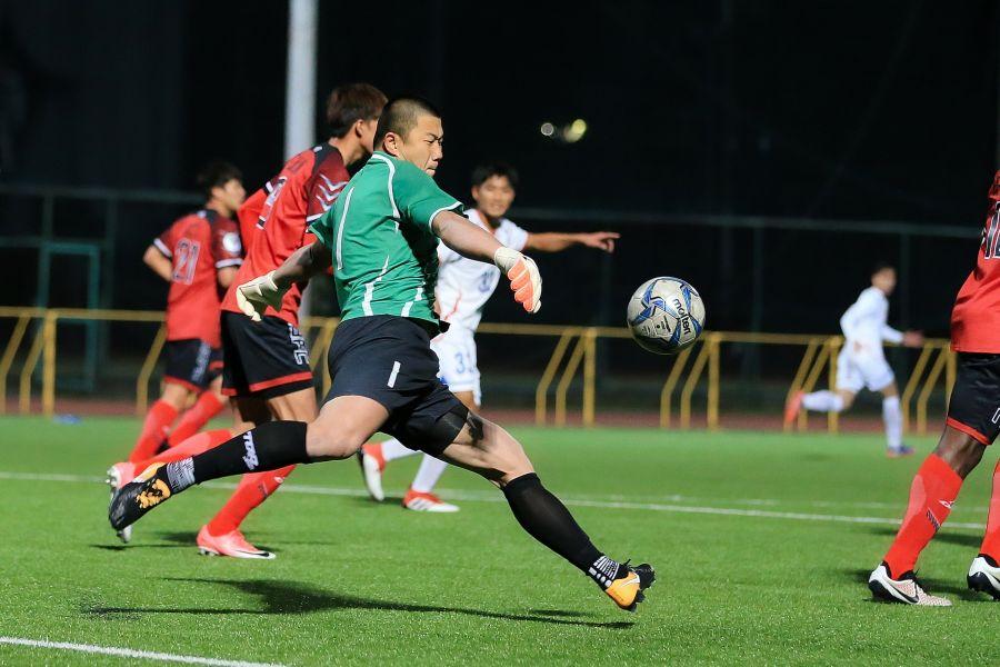 門將潘文傑表現依舊穩定。中華民國足球協會提供