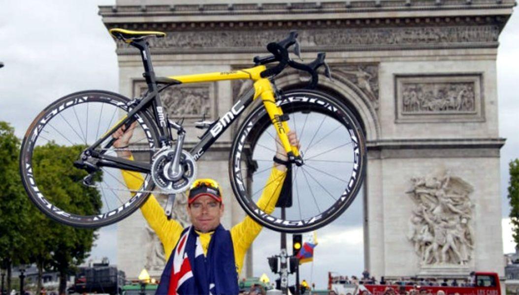 2011年環法大賽總冠軍澳洲〝冏爺〞卡德‧伊文斯(Cadel Evans)將挑戰台灣登山王。BMC車隊/提供。