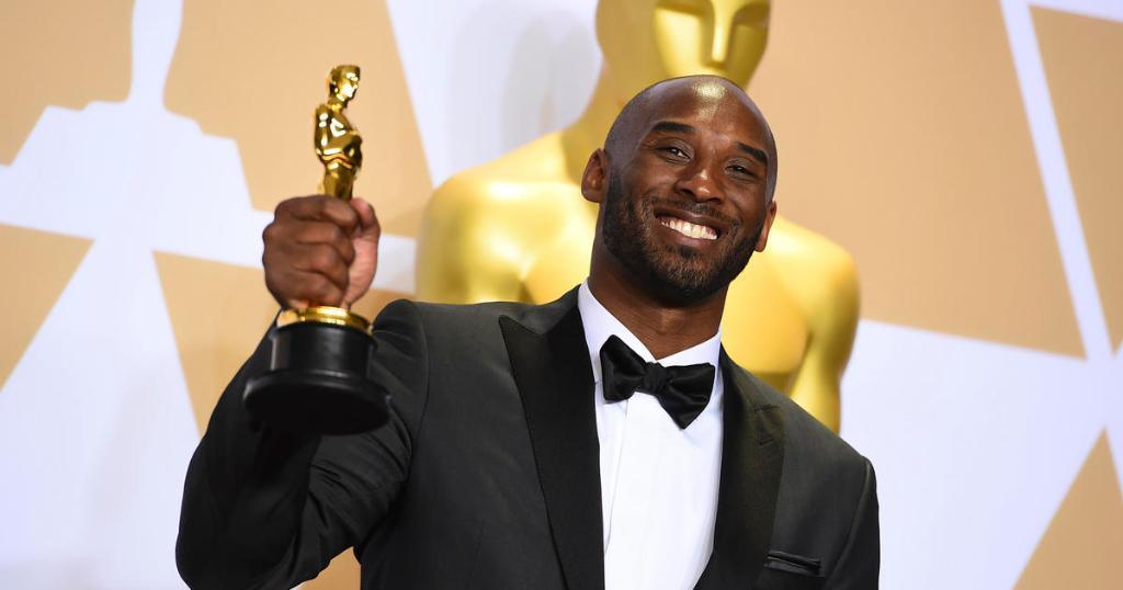 Kobe籃球動畫短片獲得奧斯卡「最佳動畫短片」獎。(圖片來源:@CBSNews Twitter)