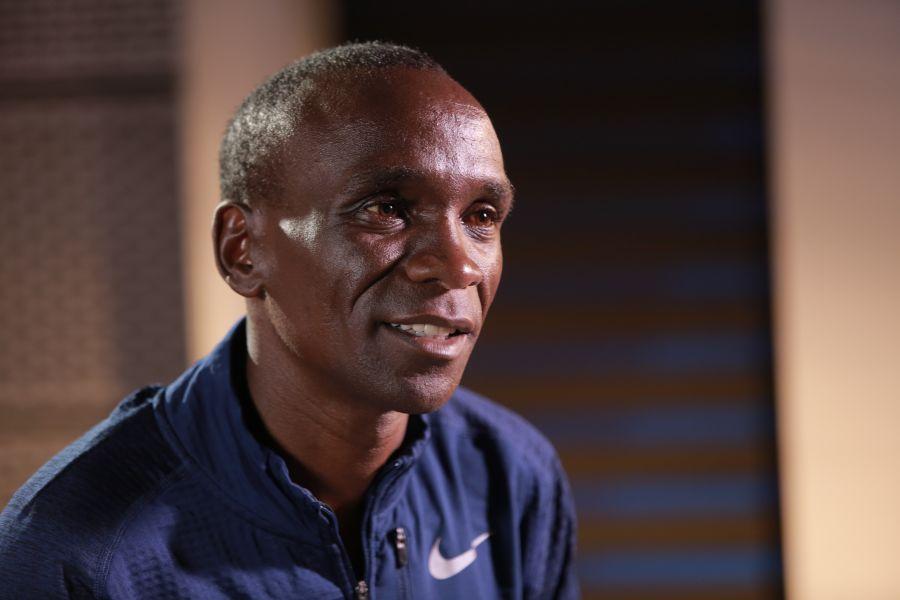 世界頂尖馬拉松運動員Eliud Kipchoge。