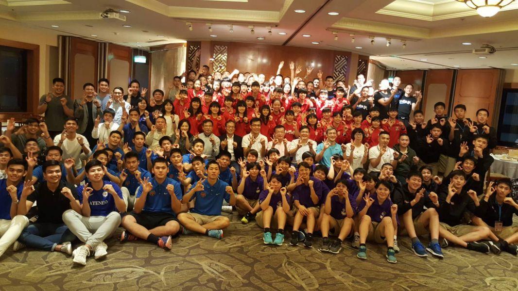 HBL30周年國際高中邀請賽選手之夜大合照。