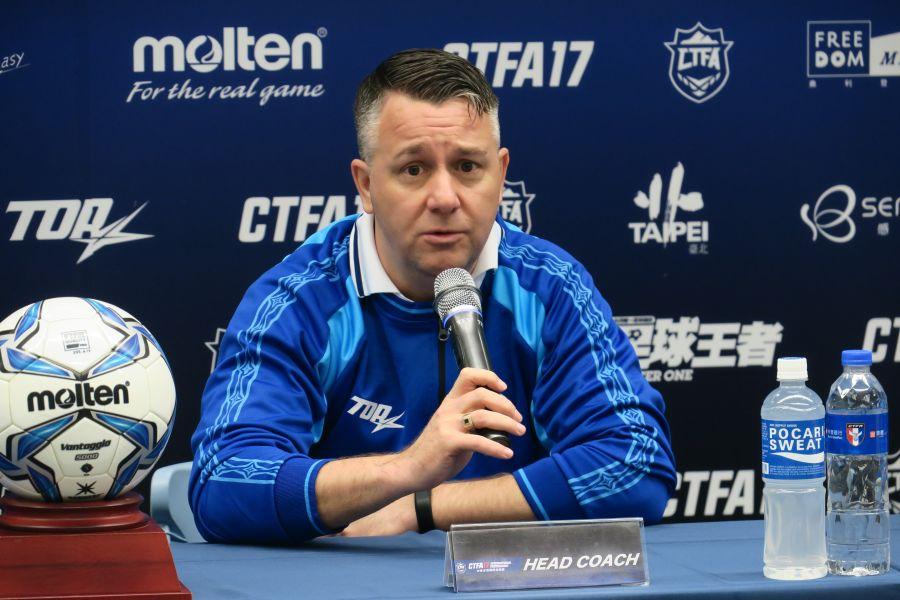 中華隊英國籍教練懷特。中華民國足球協會提供