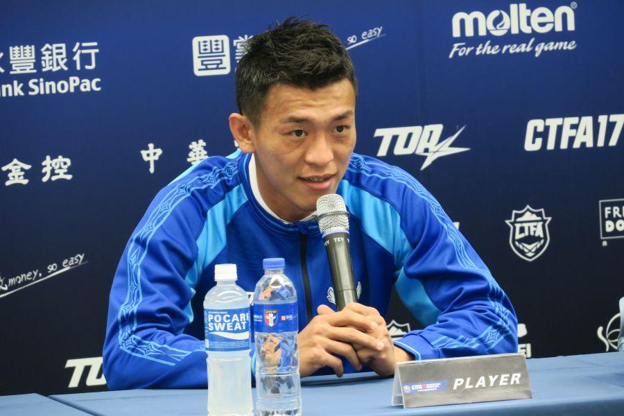 中華男足隊長東柏良。中華民國足球協會提供