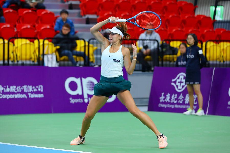 蕾妮特晉8強。WTA臺灣公開賽大會提供