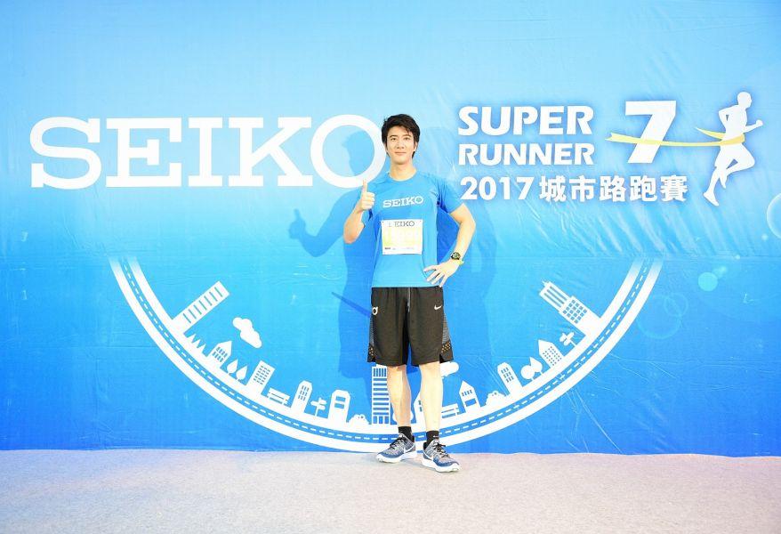 SEIKO年度代言人王力宏二度出席路跑活動 (主辦單位提供)