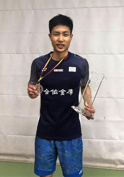 台灣男單周天成順利衛冕德國羽賽冠軍/YONEX提供