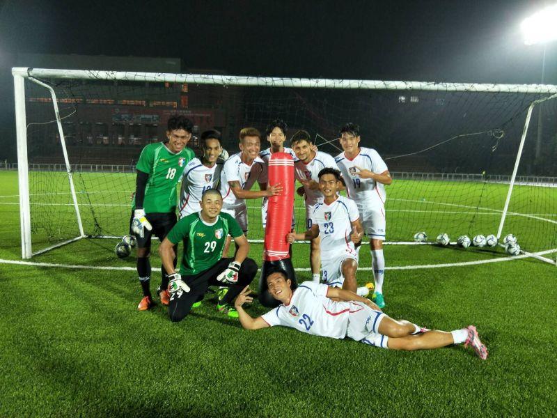 懷特的訓練非常有趣。中華民國足球協會提供