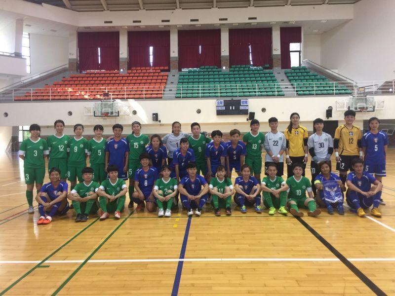 中華、澳門代表隊進行熱身賽。中華民國足球協會提供