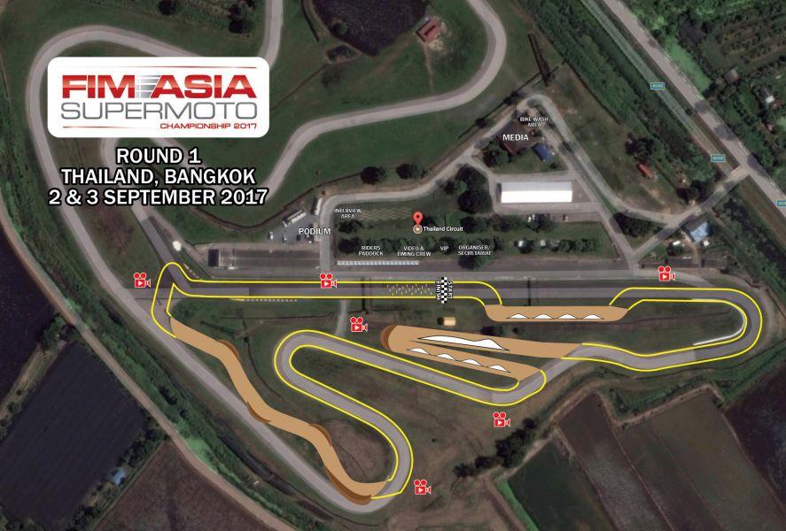 Thailand Circuit將部分賽道鋪設為泥土路段來進行Supermoto的賽事。中華賽車會/提供。