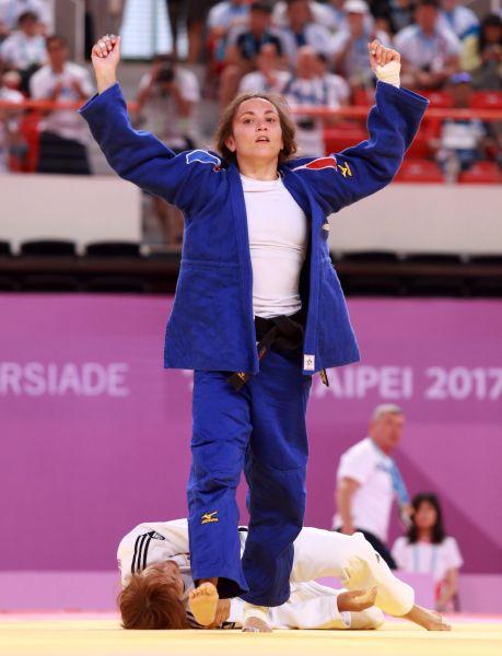 法國女將比納羅切奪金。台北世大運組委會提供