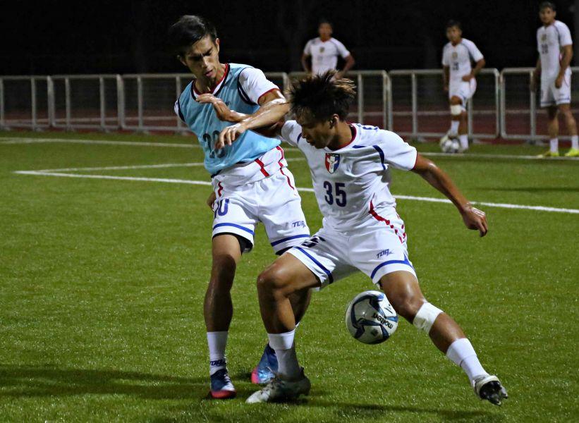 中華男足正在龜山集訓備戰。中華國足球協會提供
