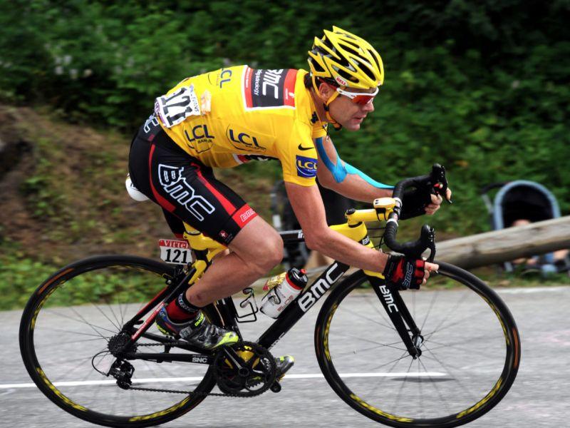 2011年環法大賽黃衫得主澳洲〝冏爺〞卡德‧伊文斯(Cadel Evans)將挑戰台灣登山王。BMC車隊/提供。