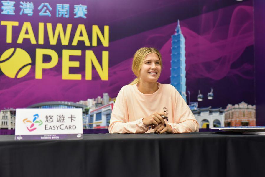 布夏今參與見面會。WTA臺灣公開賽會提供