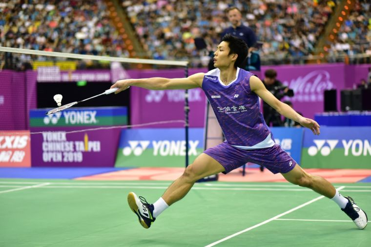 臺北羽球公開賽男單冠軍周天成。主辦單位提供
