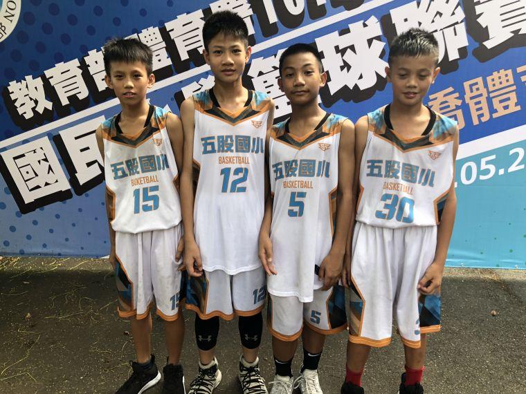 「五股四少」周兆晉(左起)、陳俊瑋、潘竣瑋、周佑承 。大會提供