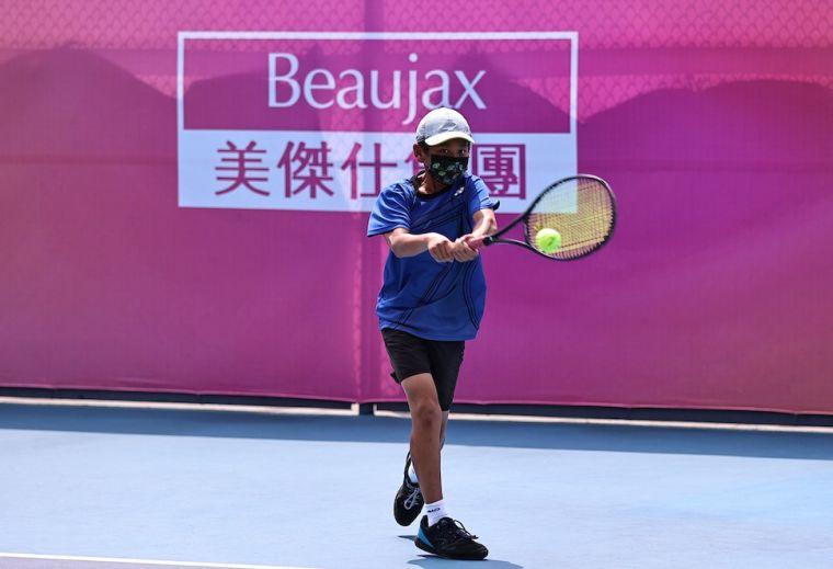 歐子毅生涯首度勇奪青少年A級單打冠軍。海碩整合行銷提供