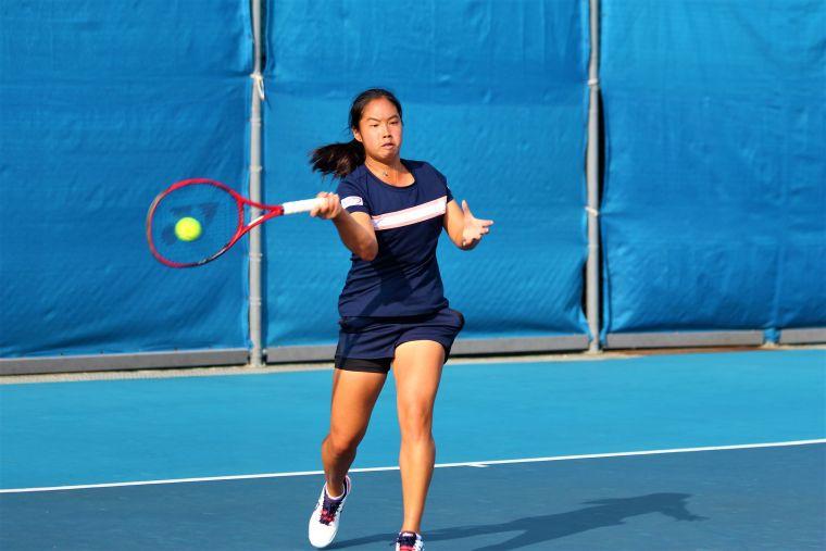 楊亞依二連勝挺進美網青少女單打會內賽。資料照片