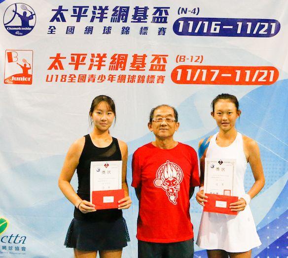 女單冠軍卓宜岑(右)、亞軍曹家宜(左)。海碩整合行銷提供