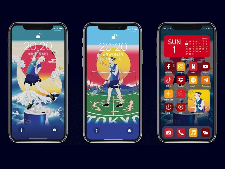 即日起粉絲們只要到指定各大通路購買Red Bull紅牛能量飲料,上傳發票至Red Bull Line官方帳號,即可獲得戴資穎官方手機桌布(浮世繪版)。官方提供