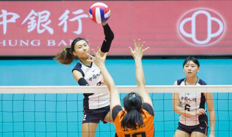 中國人纖 張瓈文砲火猛攻。中華民國排球協會提供