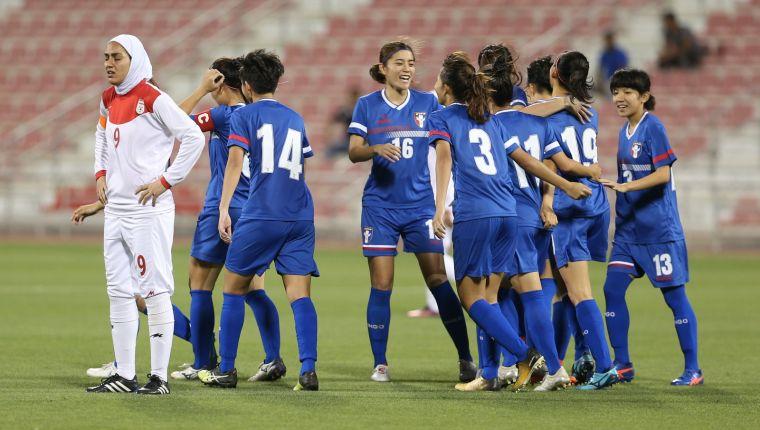 中華女足4比1贏伊朗奪下勝利。