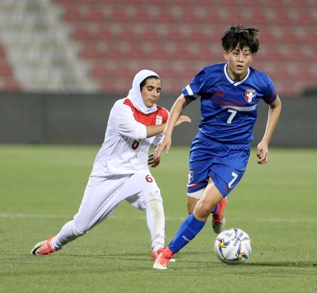 中華隊陳燕萍今日貢獻一進球。