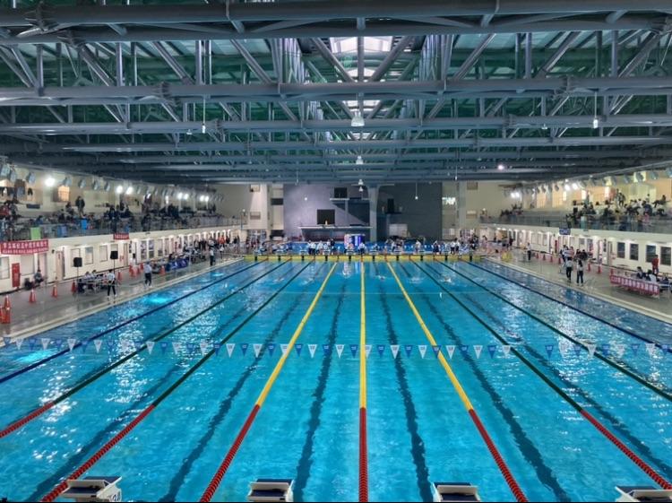 北區國民運動中心游泳池-符合國際標準規格游泳池。台中市運動局提供