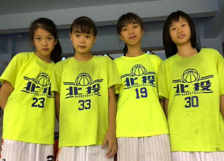 北投確定挑戰JHBL甲級的4俠女葉睿芙(左起)、陳柔安、韓允溱、李欣芮。大會提供