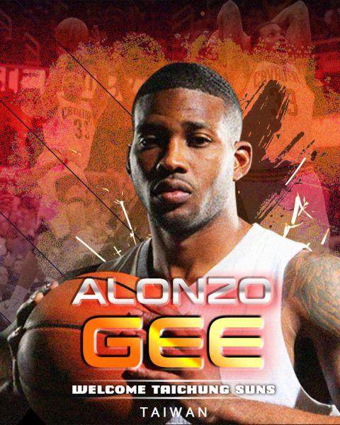 台中太陽NBA等級洋將Alonzo Gee宣布加盟。官方提供