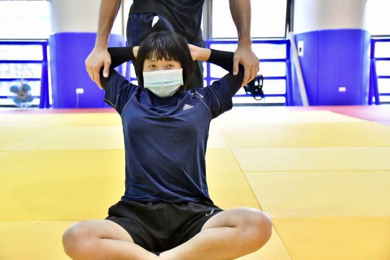 台中視障柔道選手李凱琳。台中運動局提供