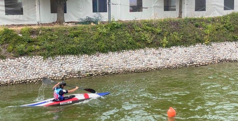 台中輕艇好手張筑涵。台中運動局提供