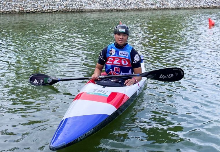 台中輕艇好手張筑涵-全運會奪冠再征世界舞台。台中運動局提供