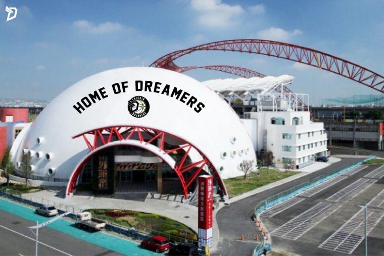 台新夢想家新主場外觀示意圖。台新夢想家提供