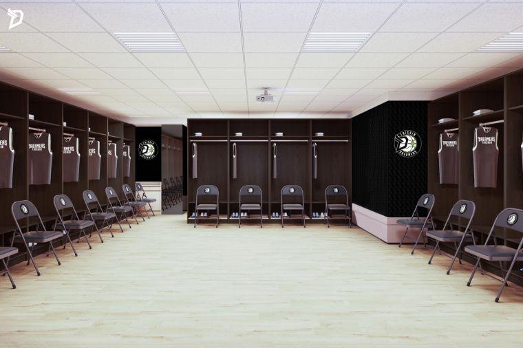 台新夢想家新主場球員休息室示意圖。台新夢想家提供