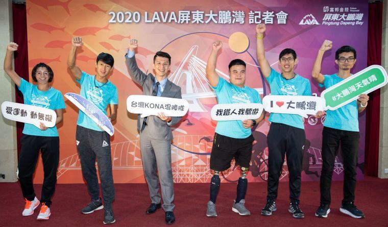 台灣師範大學特教系主任姜義村教授(中)將帶領身障組選手們將再度挑戰LAVA鐵人賽大鵬灣站。大會提供